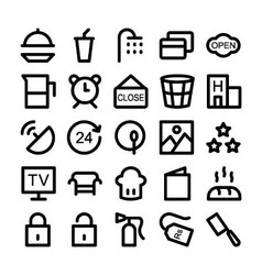 Hotel and Restaurant Icons 5 vector image