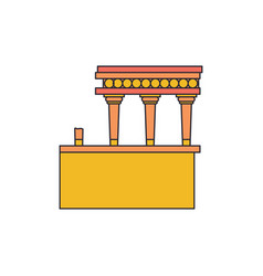 knossos palace icon cartoon style vector image