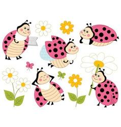 Ladybugs Set02 vector image