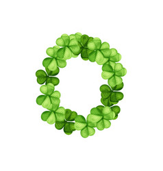Letter o clover ornament vector