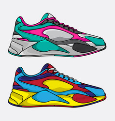 lifestyle sneakers vector image