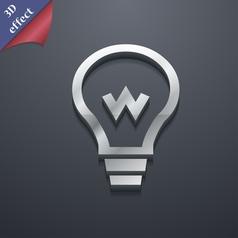 Light bulb icon symbol 3D style Trendy modern vector