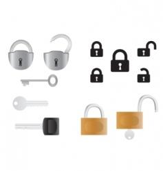 Locks and keys vector