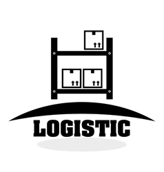 Logistic design Shipping and Delivery conception vector image