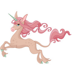 magic unicorn vector image vector image