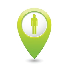 Man GREEN map pointer vector