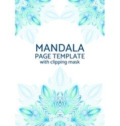 Mandala page template vector image