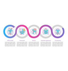 mediation infographic template vector image