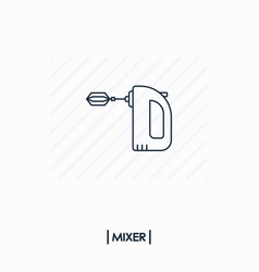 mixer outline icon isolated vector image