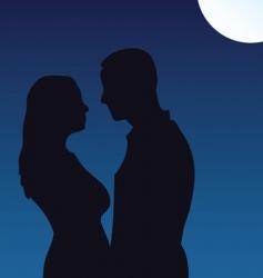 moonlight kiss vector image