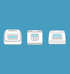 Multicooker icon isolated household appliance vector