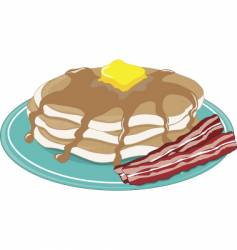 Pancakes bacon vector