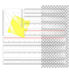 Plastic rulers vector