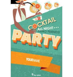 Poster for cocktail party vector image