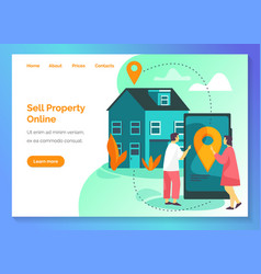 real estate broker agency sell property online vector image