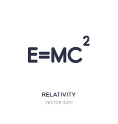 relativity icon on white background simple vector image
