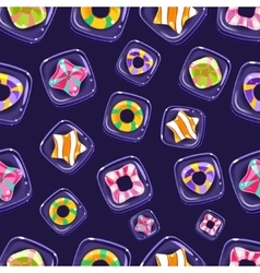 seamless background with colorful Halloween vector image