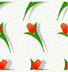 seamless flower pattern-01 vector image