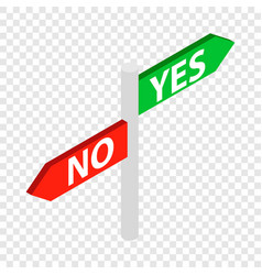 sign yes no isometric icon vector image
