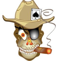 Skull bandit vector image