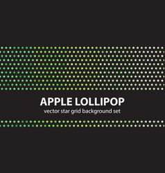 Star pattern set apple lollipop seamless vector