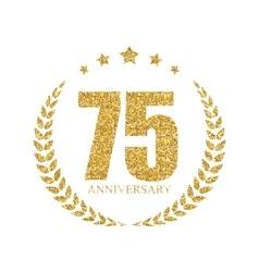 Template Logo 70 Years Anniversary vector image