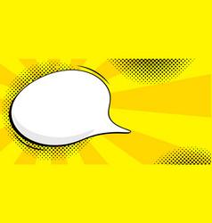 Vinage speech bubble in pop vector