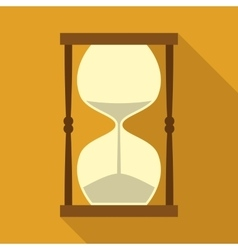 Vintage Hourglass with Sand in Flat Style vector