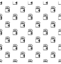 wallet pattern seamless vector image