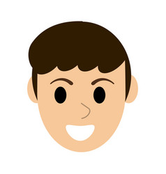 young man face vector image