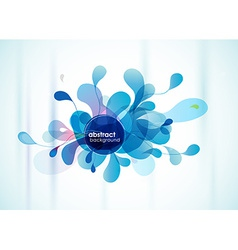Abstract blue background reminding flower vector image