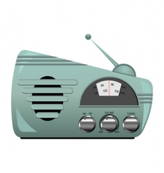 retro radio set vector image