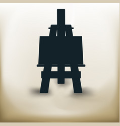 simple easel vector image vector image
