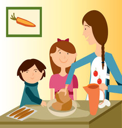Baking-with-mom vector