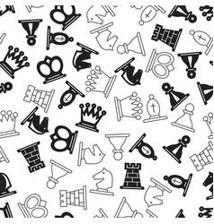 chess symbols pattern vector image