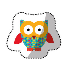 color stamp owl icon vector image