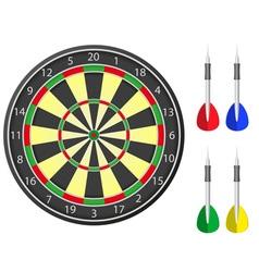 darts board vector image vector image