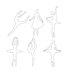 Outline Ballerinas set vector image vector image