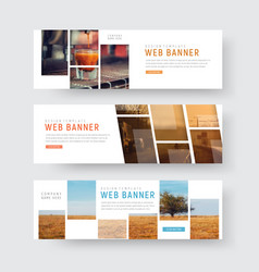 template of web banners with rectangular blocks vector image vector image