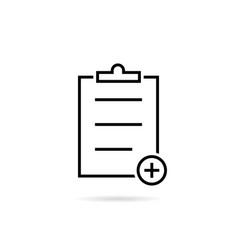 thin line black medical prescription icon vector image vector image