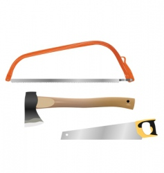 wood cutting tools vector image