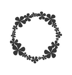 Wreath crown flower icon graphic vector