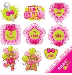 Baby pink big set vector image