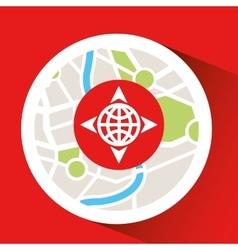 Globe location laptop map gps vector