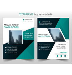 green black abstract annual report brochure vector image
