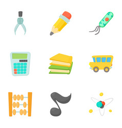 schoolhouse icons set cartoon style vector image vector image