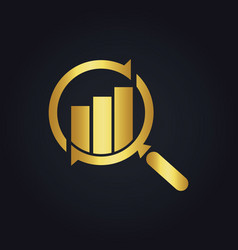 search business finance exchange gold logo vector image vector image