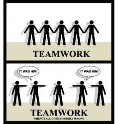 teamwork one vector image vector image