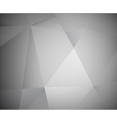 Abstract 3d grey background made from triangles vector image
