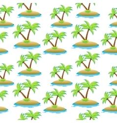 island palm tree seamless texture Summer vector image vector image